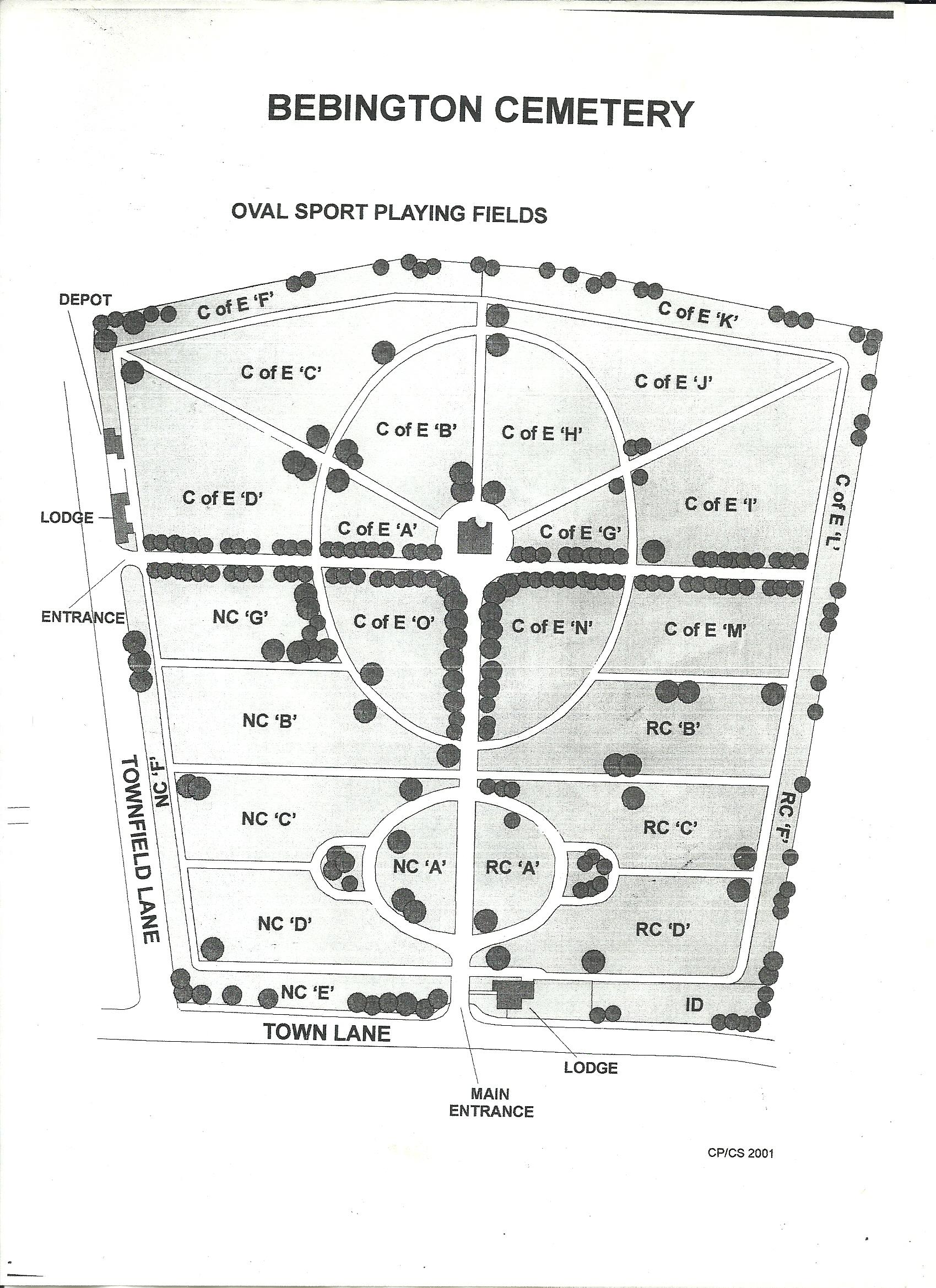 Merseyside Cemetery Maps Sarsfield Memorials Liverpool