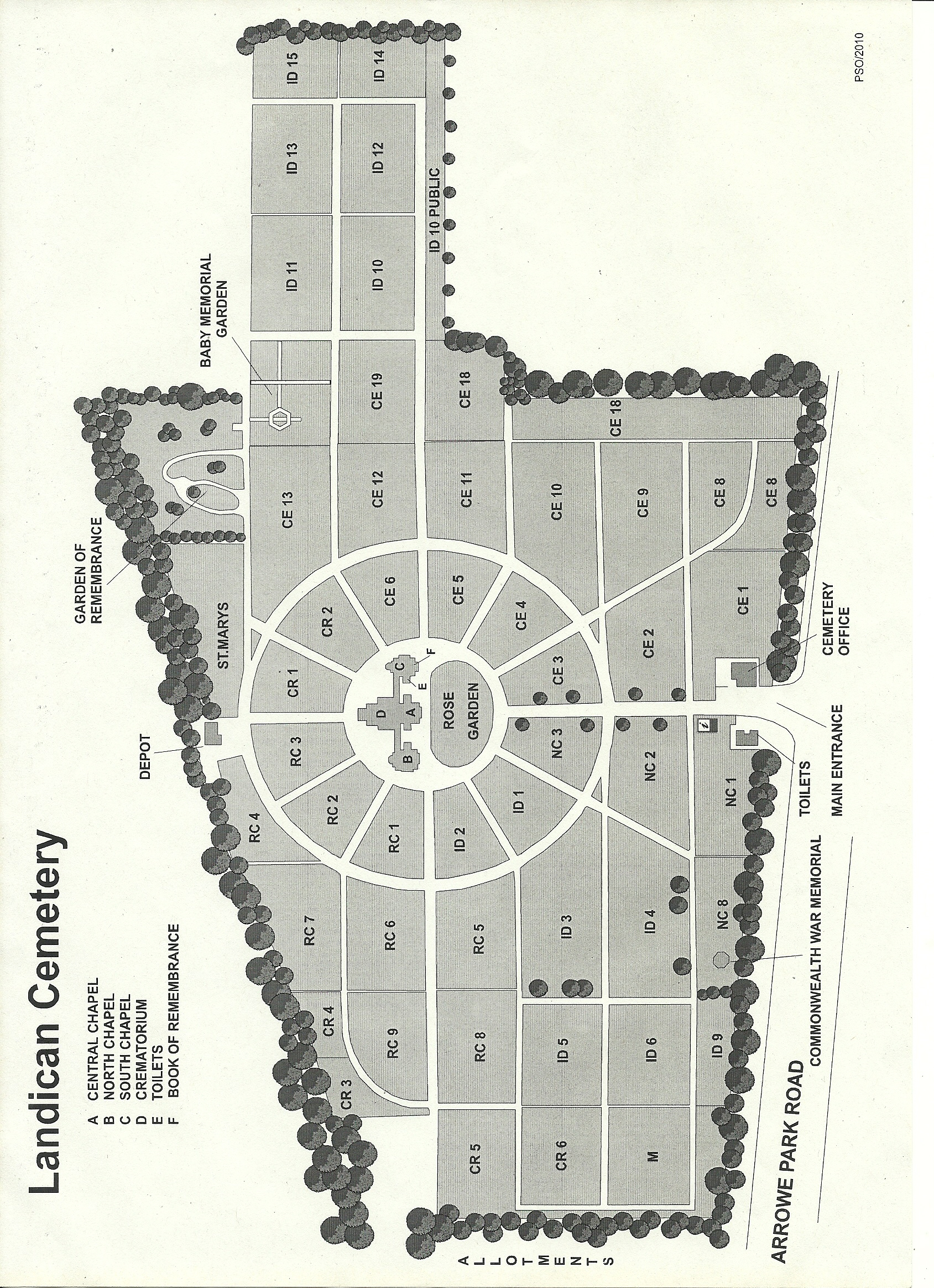 Cemetery Maps on